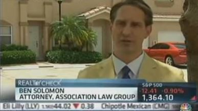 Attorney Ben Solomon was invited onto CNBC's Realty Check to discuss housing trends in South Florida.
