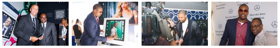 Fashion celebrities and sports stars demonstrated the new ReelCode technology at Mercedes-Benz Fashion Week, Lincoln Center.