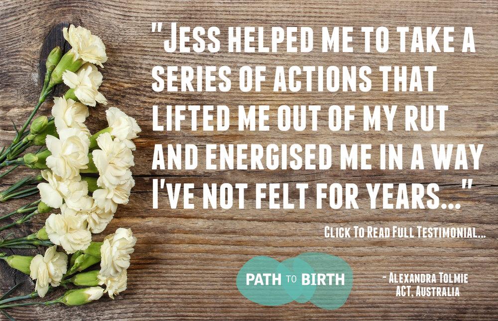 Client testimonial Jess Lowe Pregnancy Life Coaching