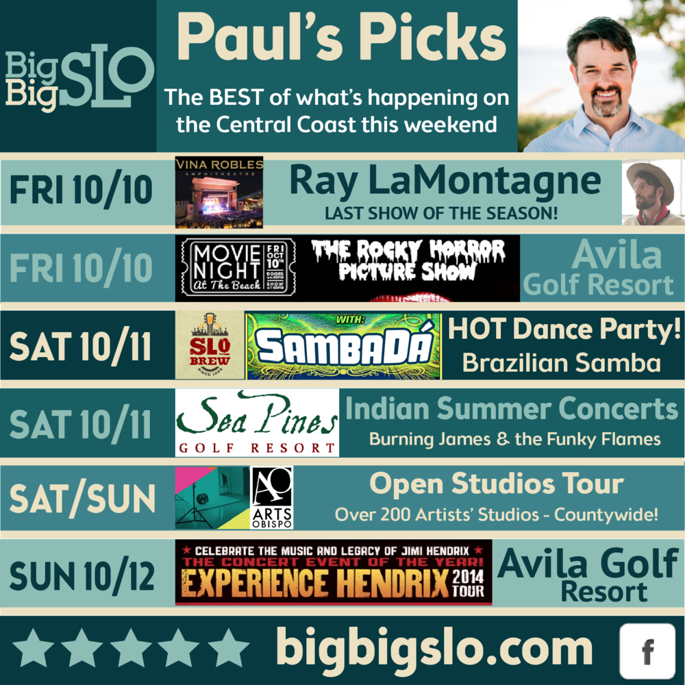 These are my picks for the best events this weekend.  See you out there!!
