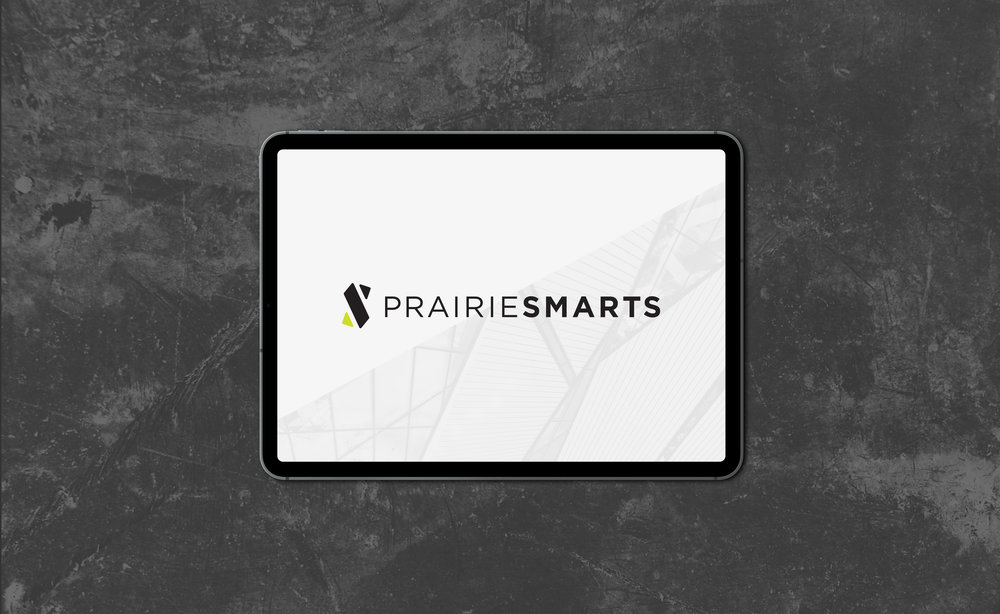 PrairieSmarts' full wordmark is set in Gotham, a forward-thinking and approachable sans serif. Given the digital focus of PrairieSmarts, the logo was designed to present especially well on-screen.