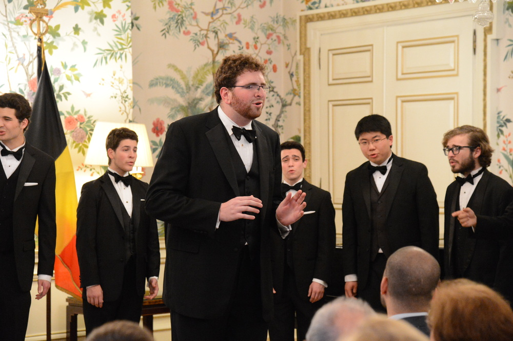 Jeremy Zitomer ('15+1) solos for the US Embassy in Belgium.
