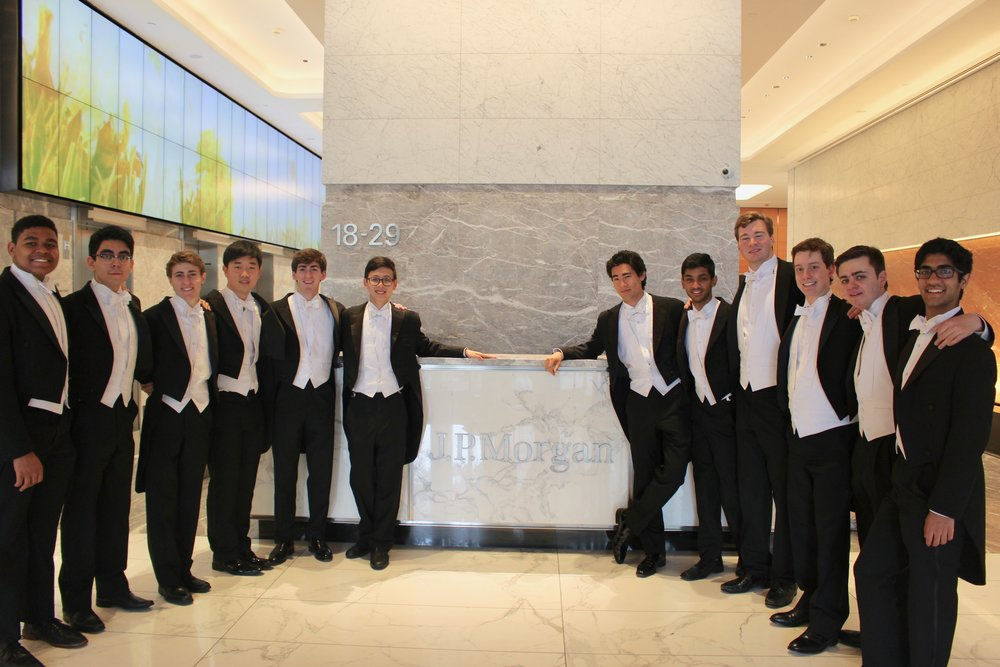 Singing at J.P. Morgan in Hong Kong.