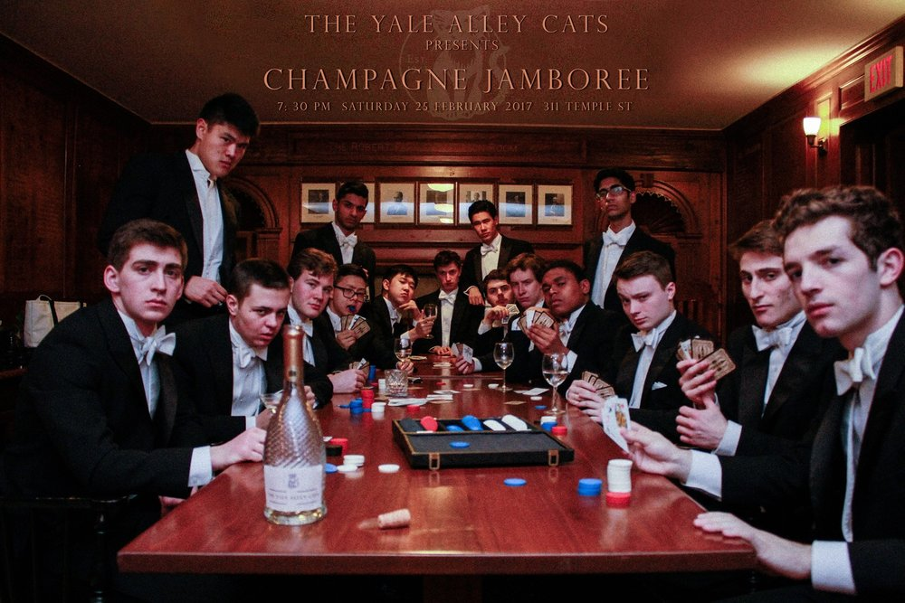 Promotional photo for our 74th Annual Champagne Jamboree.