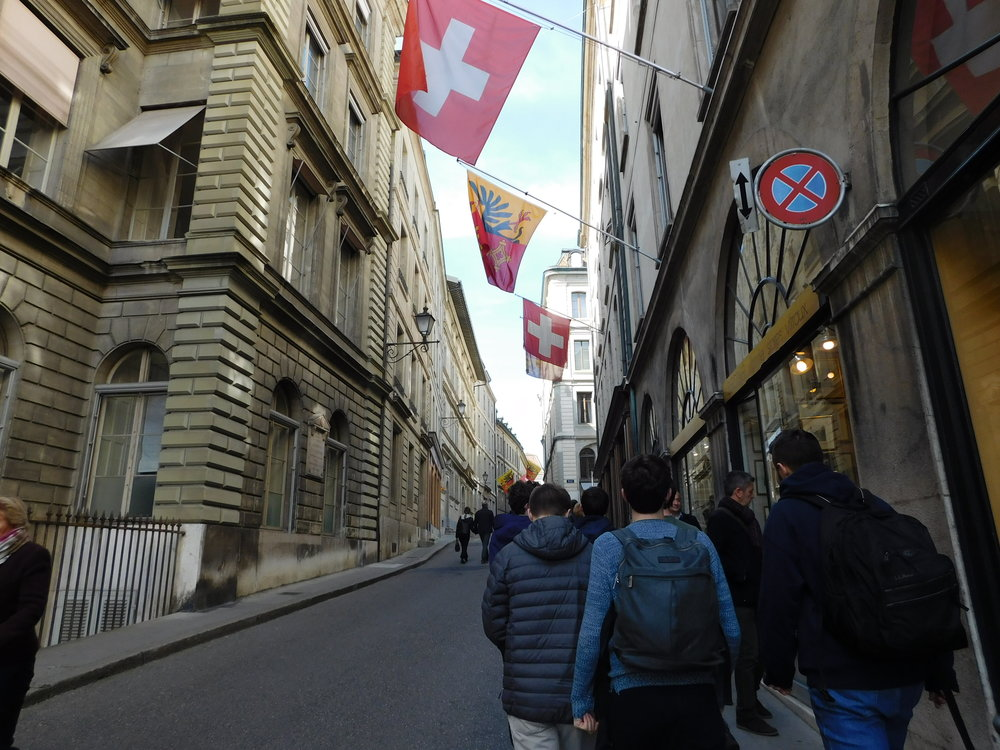 Walking through Geneva
