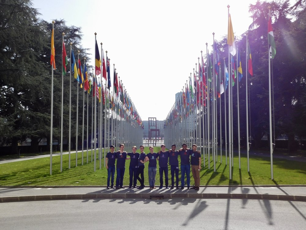Group Photo outside the United Nations