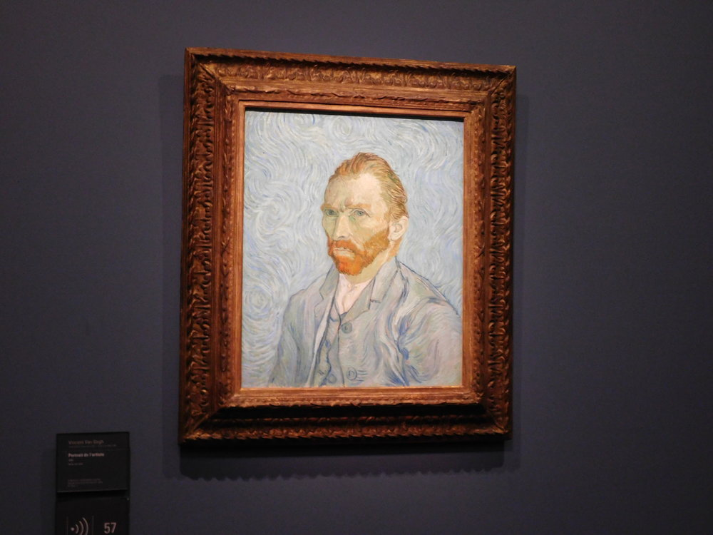 View of Vincent inside the museum!