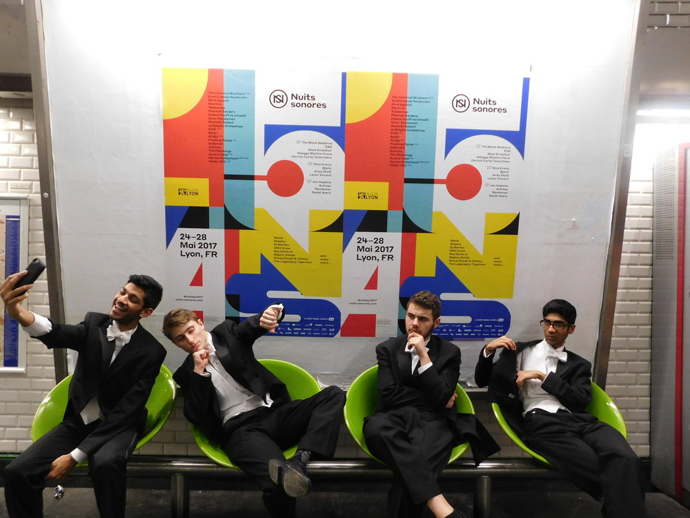 Natural poses while waiting for the Subway after a performance