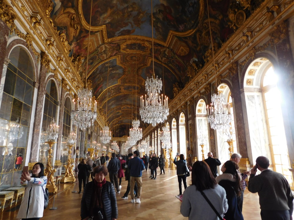 The Hall of Mirrors inside the Palace