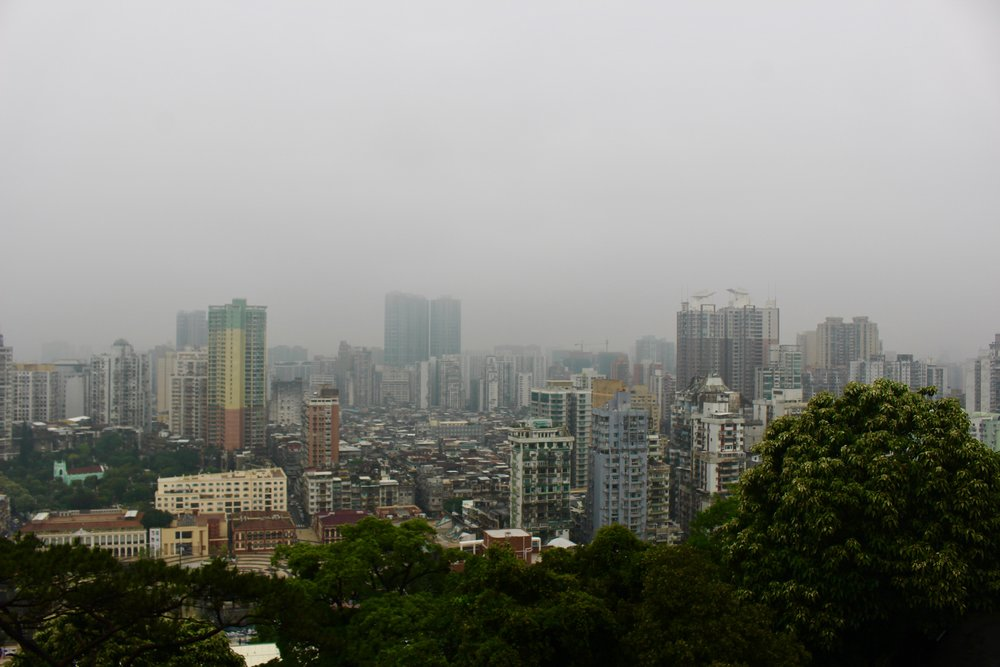 Cloudy day in Macau, first day in the city!