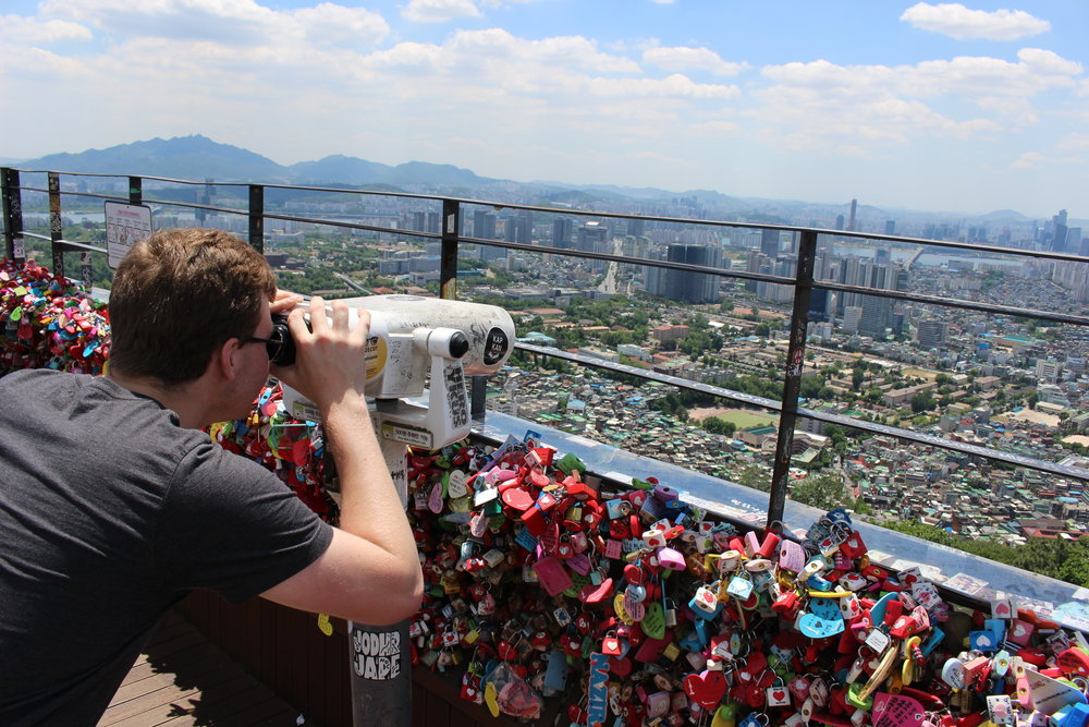 Aidan ('19) takes a look over one of the largest cities in the world