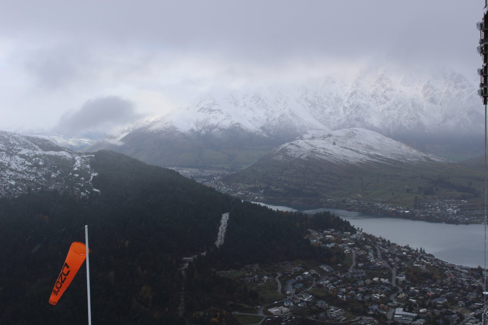 View from the Mountaintop in Queenstown, New Zealand