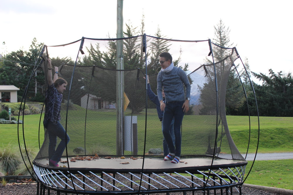 Trampoline break in Wanaka, New Zealand!