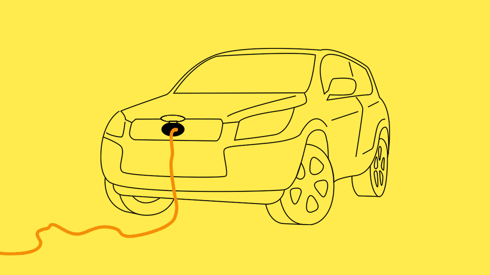 A universal system connecting a car's battery to buildings, devices, and other cars.