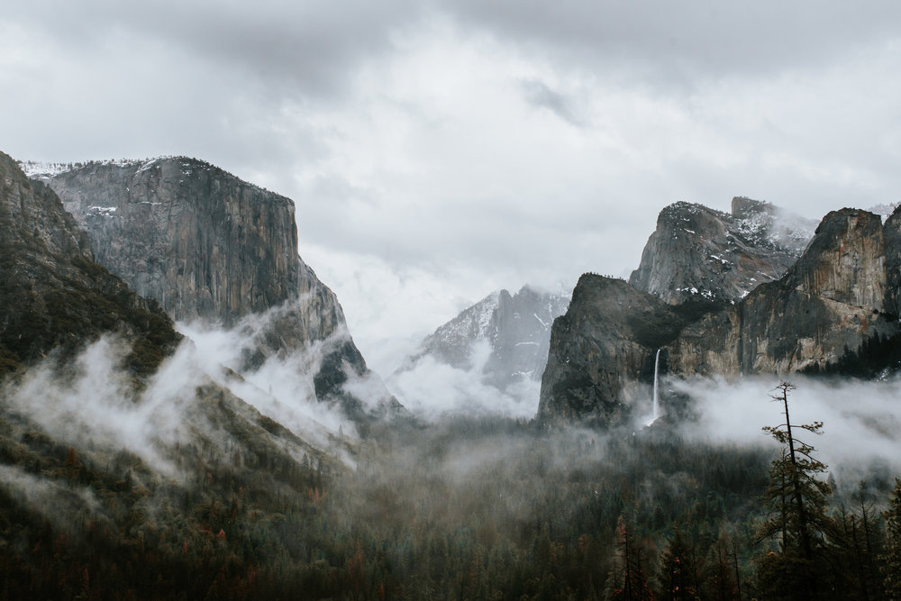 View from Tunnel View Point in Yosemite shot on a 35mm lens. Looks... decent. But not  breathtaking.