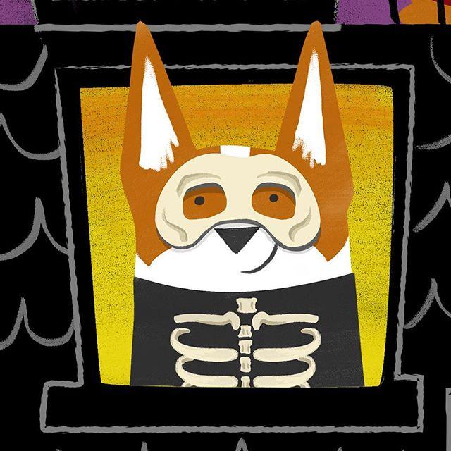 This guy and more Halloween corgis as on @corgirific now! ⠀ ⠀ ⠀ ⠀ ⠀ #corgirific #corgi #corgis #corgisofinstagram #corgilove #corgigram #corgination #halloweenart #corgiloaf #corgisrule #corgicommunity #corgistagram #corgis_of_instagram #illustration #corgicorner #cardigancorgi #pembrokecorgi  #dogart #boo #myfavcorgi #skeleton #corgiplanet #corgigram_ #halloweendog #corgigram #corgiaddict #halloween #corgistagram