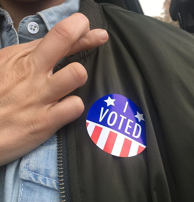 Voting is a right and a privilege. To not exercise your right to vote is tell every ancestor you had that gave up everything to get to America, every suffragette that was jailed, and grandparent that fought in WW2, that their sacrifice doesn't matter to you. Go vote. You owe it to them. You owe it to yourself. #ivoted #rockthevote #vote