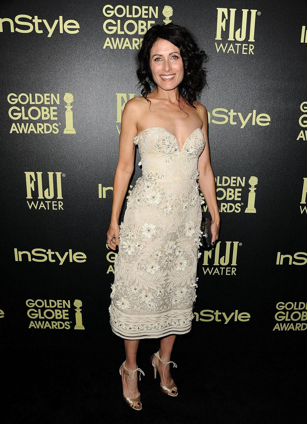 Actress Lisa Edelstein at inStyle celebration of the 2016 golden globe award season
