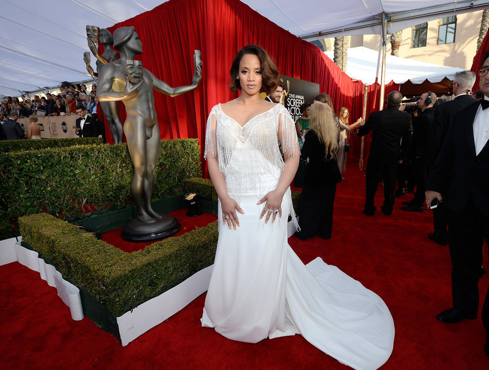 Dascha Polanco , cast of orange is the new black attending the 2016 Sag Awards