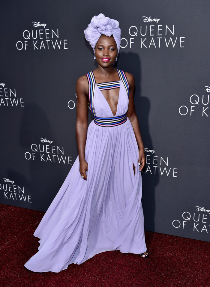 Lupita Nyong'o at the premiere of Queen of Katwe in Los Angeles 2016