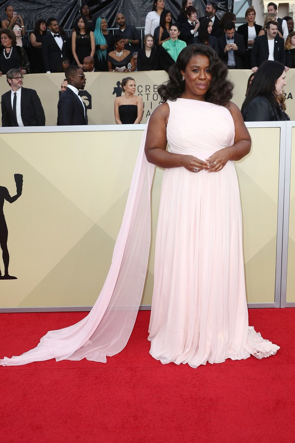 Uzo Aduba on the Red Carpet of the 2018 SAG AWARDS