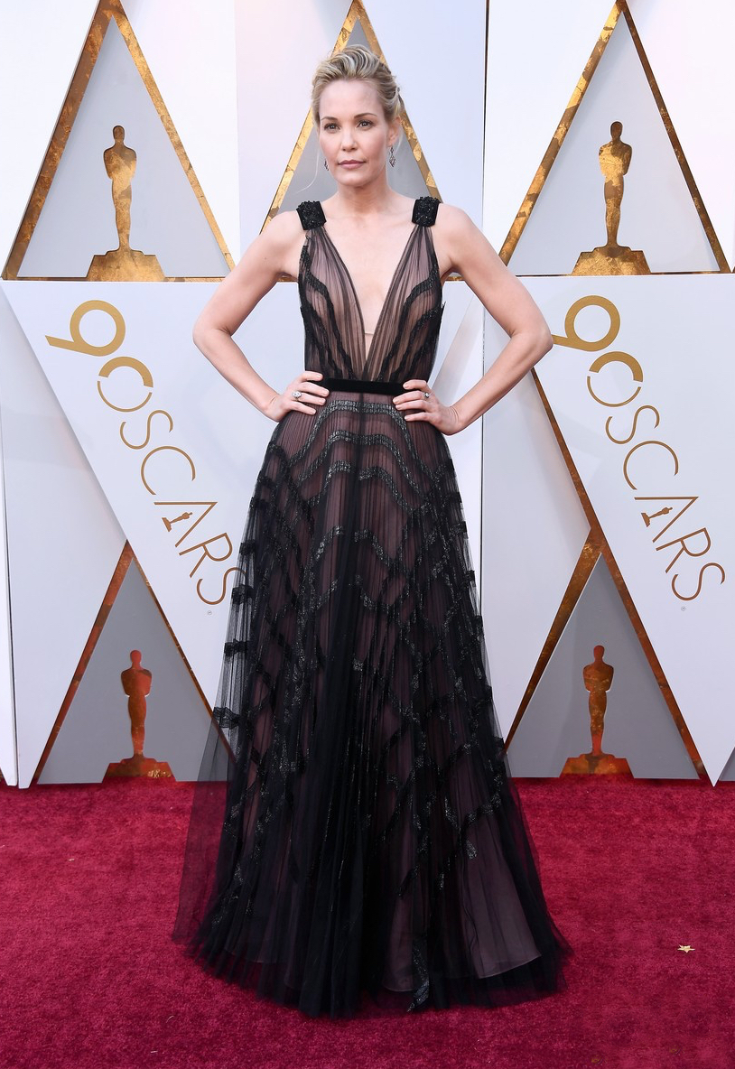 Leslie Bibb At the 2018 Oscars.