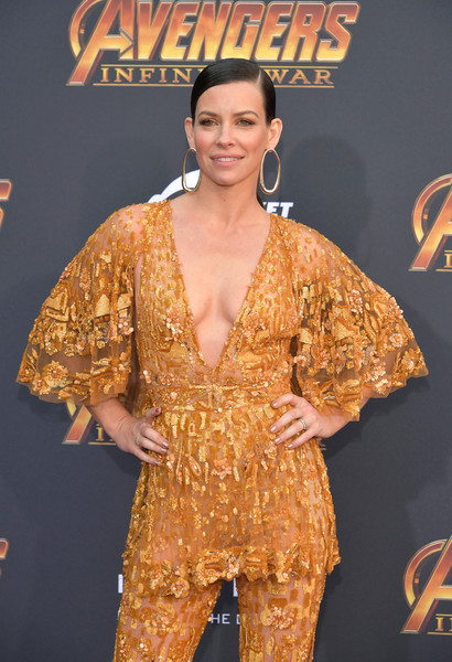 Evangeline Lilly At the premiere of Avengers: Infinity War