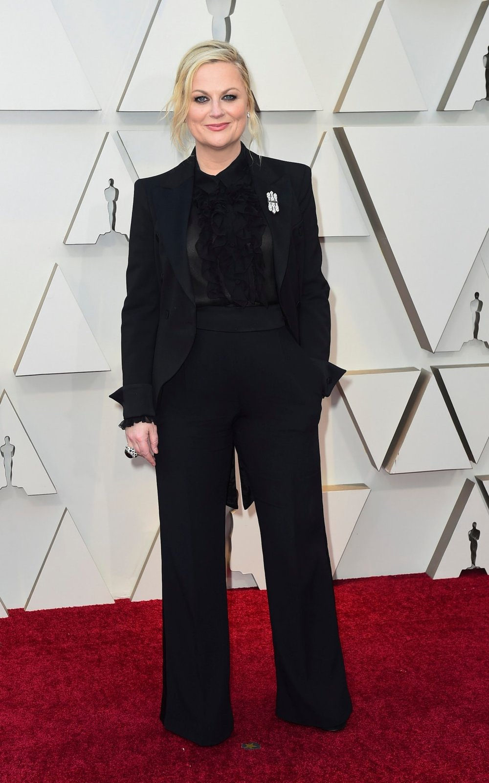 Amy Poehler on the carpet of the 2019 Oscars
