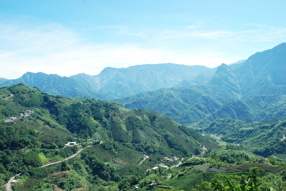 View of Alishan Region from Taihe Village.