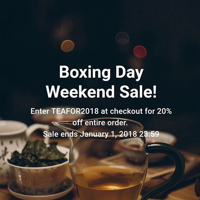 Happy Christmas and Happy New year. Here's to 2018 🍻🍻🍻 enjoy the limited time offer 20% off entire order till January 1st with code TEAFOR2018 #boxingday #boxingweek #tea #teaobsession #oolong #wholeleaf