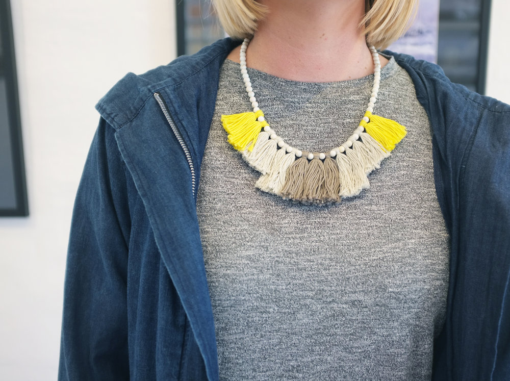 Madeline Young Tassel Necklace for Belle Armoire Store