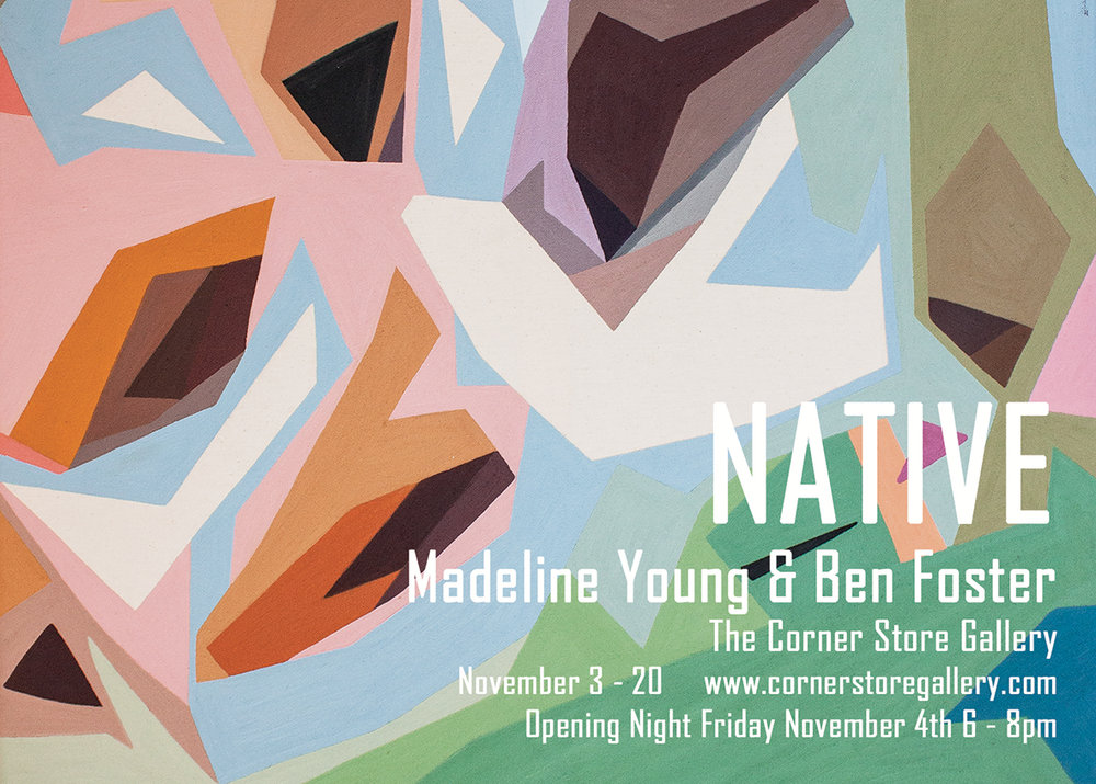 Native - exhibition by Madeline Young & Ben Foster at The Corner Store Gallery, Orange NSW