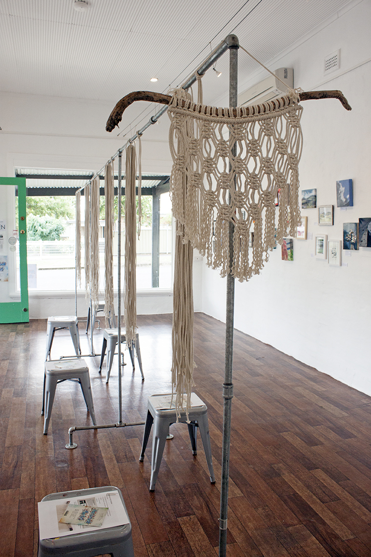 Macrame Wal Hanging Workshop at The Corner Store Gallery - taught by Madeline Young