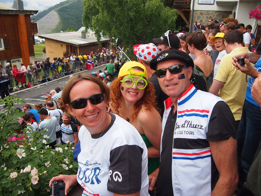 2013:  Awaiting the arrival of the Tour de France on Alpe d'Huez
