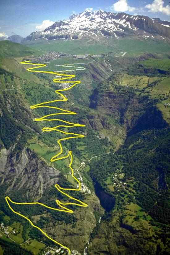 The 21 hairpin bends to Alpe d'Huez
