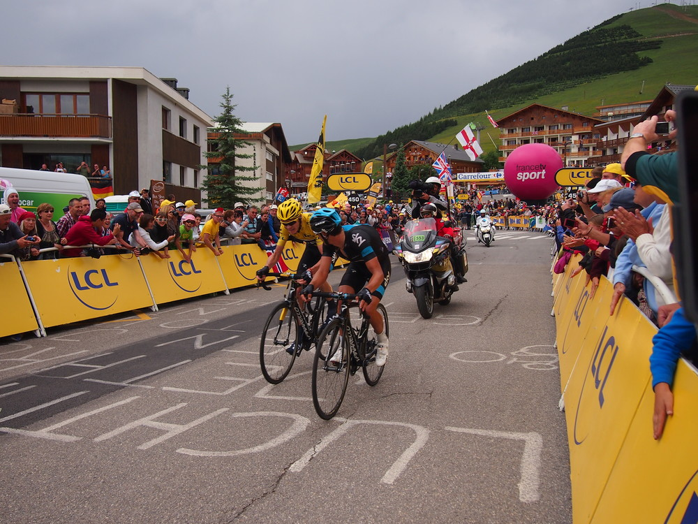 Stage finish on Alpe d'Huez, 2013