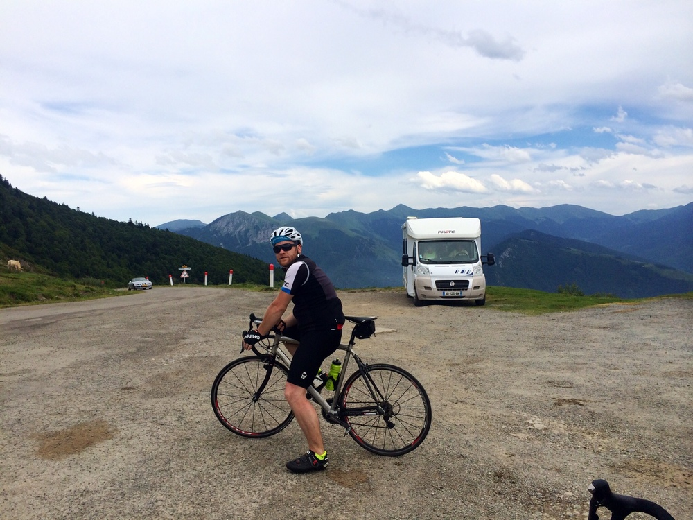 Ross cycling in the Alps