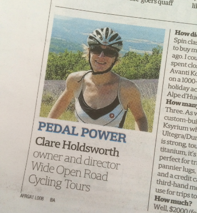 Pedal Power, Australian Financial Review, Saturday 28 March, 2015