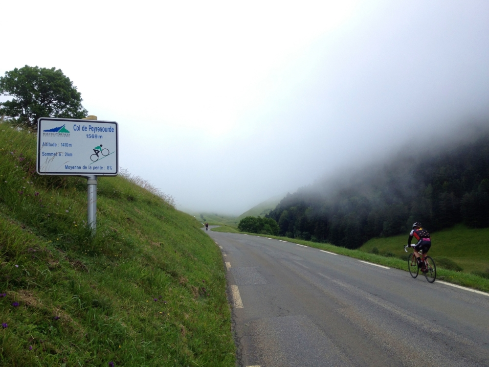 Climbing the Col de Peyresourde on our way to Bagneres de Luchon