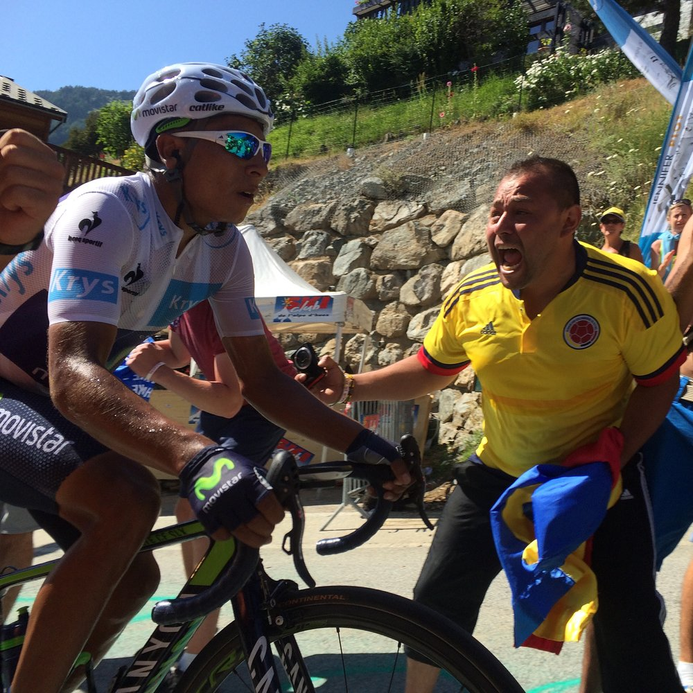 Wide Open Road were on Alpe d'Huez in 2015 to see Nairo Quintana & Christopher Froome battle it out on the 21 hairpin bends!