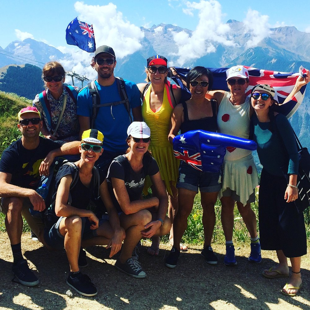 2015 - we joined the party on the 21 hairpin bends of Alpe d'Huez!