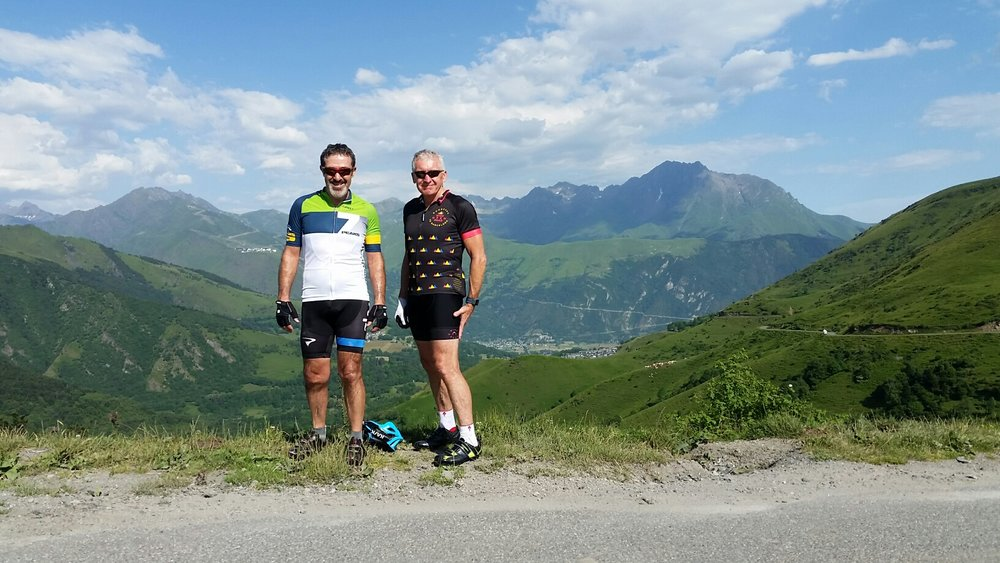 Glenn and Bill, 2015-16 7 Peaks Prize winners in the French Pyrenees!