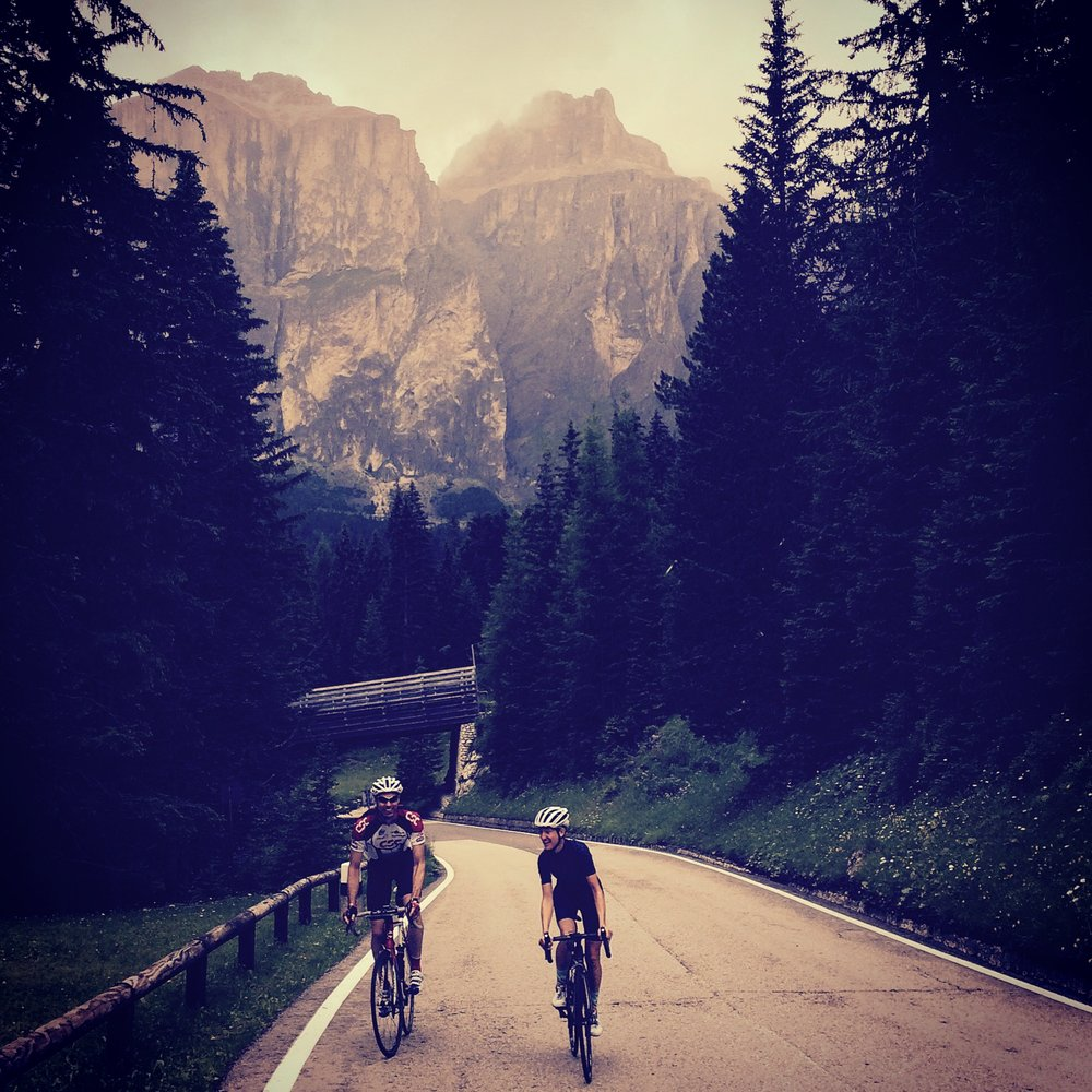 Riding the stunning Sella Ronda loop in the Dolomites