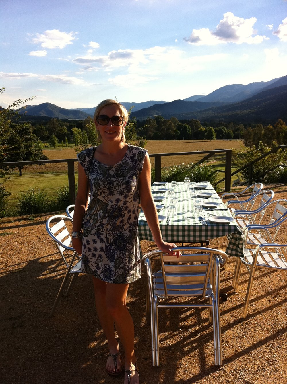 Clare, Director of Wide Open Road, at one of her favourite wineries in the region