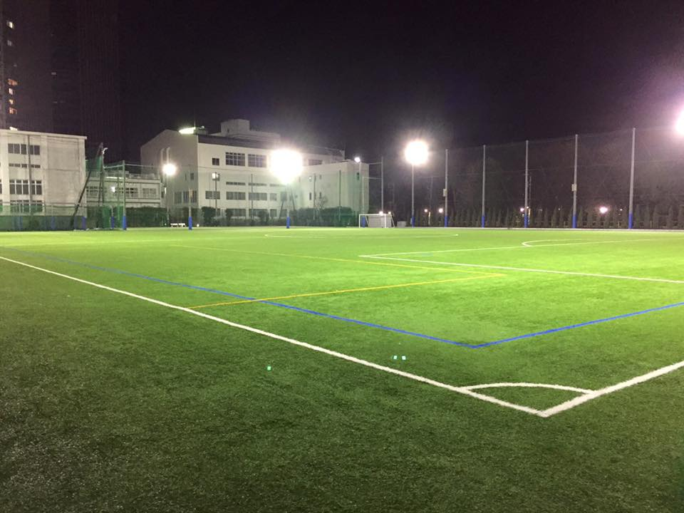 こちらのグラウンドで、練習や試合をしています。