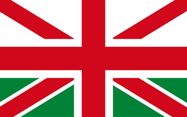 Union Jack with Welsh elements flag