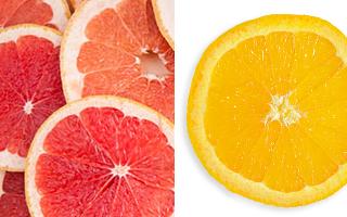 grapefruit and orange slices