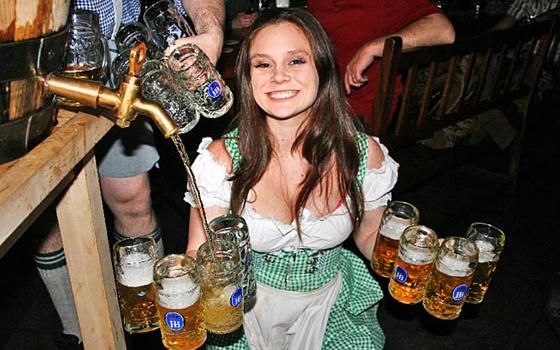 Girl in Lederhosen