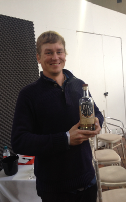 Ben Capdevielle shows off Captive Spirits' Big Gin, winner of a Gold Outstanding award at the IWSC 2014