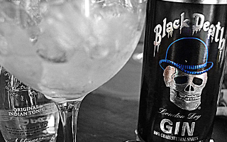 Black Death Gin bottle